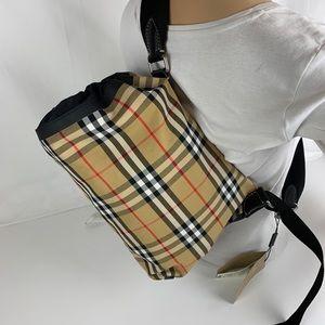 New Burberry Small Check Duffle Bag